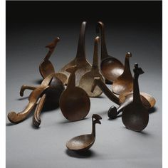 Group of Thirteen Woodlands Spoons