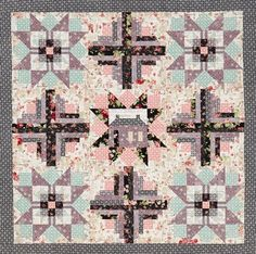 Get Comfy Color Option by Laura Boenke. Fabrics are from the RuRu Bouquet: Rose for You collection by Quilt Gate Fabrics.