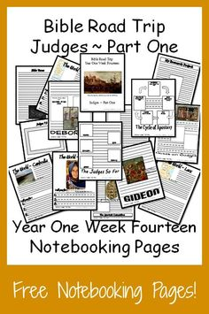 {Free Printable Notebook Pages} Bible Road Trip ~ Year One Week Fourteen