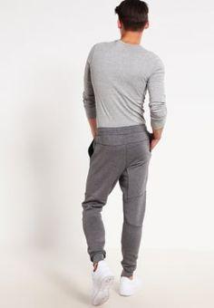 5fb979d189b5 Nike Sportswear TECH FLEECE - Tracksuit bottoms - carbon heather cool grey black  for