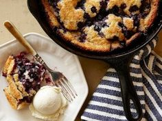 Cast-Iron Blueberry cobbler - I skipped the lavender and used less blueberries.  I added same topping from sour cream apple pie.  Fabulous! 3 tablespoons unsalted butter, softened 1/4 cup plus 2 tablespoons sugar pinch of cinnamon 2 tablespoons all-purpose flour