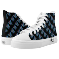 Issy Custom Zipz High Top Shoes Printed Shoes www.teeliesfairygarden.com Be edgy and fashionable with this high cut shoes. #fairyshoes