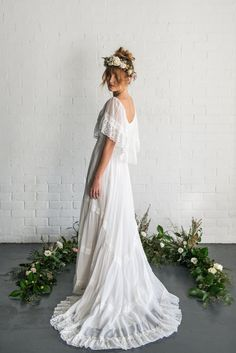 TIRA 1970's bohemian vintage wedding dress by MaggieMayBridal