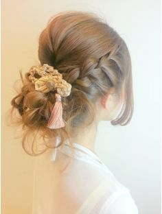 編み込みアレンジヘア☆ Up Styles, Short Hair Styles, Hair Arrange, Festival Hair, Bride Hairstyles, Big And Beautiful, Hair Hacks, Bangs, Hair Cuts