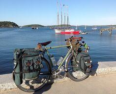 Tour 2012 Day 99 - Atlantis in Bar Harbor: love that four master Touring Bicycles, Touring Bike, Sustainable Transport, Cargo Bike, Bicycle Design, Bike Life, Mountain Biking, Bike Packing, Tours