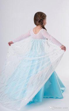 Frozen Elsa costume inspired dress 6 satin by primafashions Robes Disney, Disney Costumes, Girl Costumes, Vestido Elsa Frozen, Frozen Elsa Dress, Satin Skirt, Gauze Dress, Dresses Kids Girl, Costume Dress
