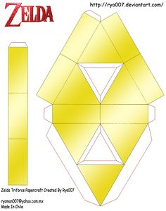 Triforce! But 'tis a papercraft! I shall totally go get it and print it out for my brother.