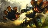 """Another tanky champion from """"league of legends"""". """"Blitzcrank"""" the great steam golem. Designed to take hits and have a big influence for better or worse on your team that is designed to pull enemies closer to you and your allies."""