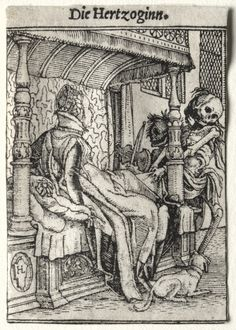 Dance of Death: The Duchess .  Hans Holbein the Younger (German, 1497-98-1543)