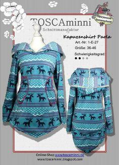 Schnittmuster Shirt (Damen), E-Book, Nähanleitung von TOSCAminni Schnittmanufaktur auf DaWanda.com