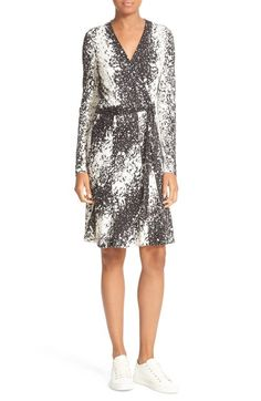 Diane von Furstenberg Lilyann Print Silk Wrap Dress available at #Nordstrom
