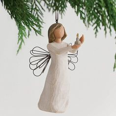 Angel Holding Candle Ornament