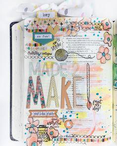 Bible journaling page by Ashley @magmagandme (FYC Make It Matter stamp set designed by Brandi Kincaid)