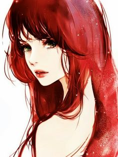 Red haired girl so pretty