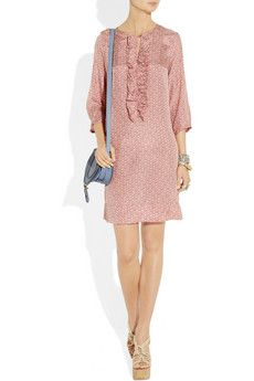 Day Birger et Mikkelsen dress, with a Chloe bag, and Lanvin shoes