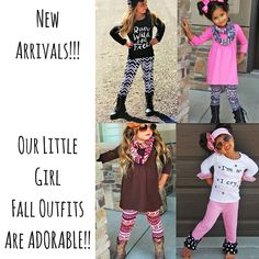Get the little ones ready for fall with these super cute outfits! Shop now!  www.fragrancesunlimited.net