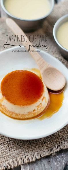 Japanese custard pudding