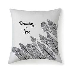Dreaming is free Pillow Case – Gyllen Lotus