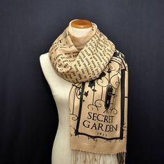 Bday gift to me!!!! Please! The Secret Garden Scarf Shawl Wrap. Book scarf Literary, universal zone.