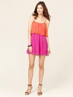 Colorblock Flutter Dress by Isabel Lu on Gilt.com