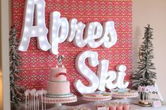 We Heart Parties: Blog Kate's Aprés Ski - A Snow Skiing Themed ...