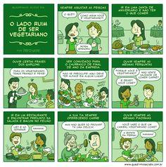 #40 - O lado ruim de ser vegetariano | Quadrinhos Ácidos