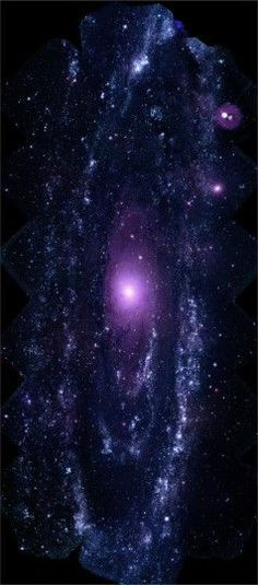 NASAs SWIFT has made the largest ever ultraviolet image of the Andromeda Galaxy. The image shows a region 200,000 light-years high and 100,000 light-years wide.