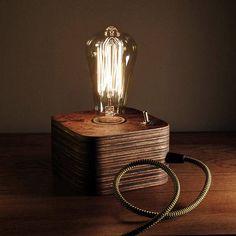 Wooden edison lamp desk lamp table lamp edison bulb fabric wire edison lampwood lampwooden edison lamptable lamphandmade lampretro lampnight lamp greentooth Choice Image