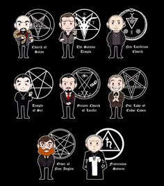 When I made the first version with only Church of Satan and The Satanic Temple people asked where all the other groups were. To be honest, there's a shit ton of Satanic and Luciferian groups/religions and some are Satanists but don't want to be...
