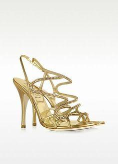 New Arrivals: Loriblu - Golden Jeweled Sandal