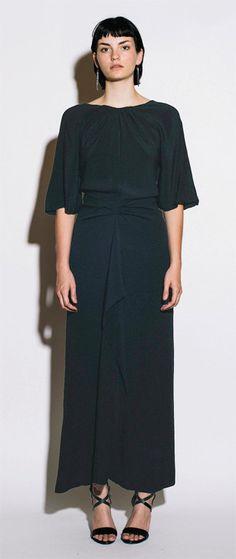 CHLOE designed by KARL LAGERFELD Vintage 1980s Black Bias Cut Silk Dress  #vintage #chloe #karlagerfeld #vintagedress #paris