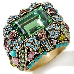 "Heidi Daus ""Damselfly"" Crystal Ring $69.95"