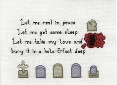 Once More With Feeling cross stitch by shaebay on flickr.com