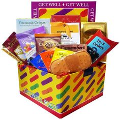 Art of Appreciation Gift Baskets Get Well Soon Band Aid Care Package Gift Box -- Learn more by visiting the image link. Gourmet Gift Baskets, Gourmet Gifts, Food Gifts, Get Well Gift Baskets, Get Well Gifts, Care Package Decorating, Honey Lemon Tea, Tea Reading, Get Well Soon