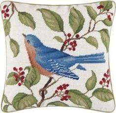 Blue Bird Throw Pillows