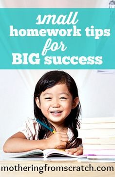 Great homework tips for success in school!