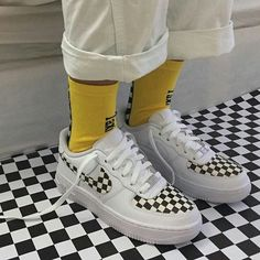 nike socks with air force ones Nike Air Force, Custom Sneakers, Custom Shoes, Moda Sneakers, Shoes Sneakers, Kd Shoes, Shoes Style, Aesthetic Shoes, Hype Shoes