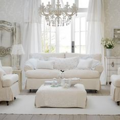 Shabby chic living room is an idea to exert more of your creativity to your room. The effect of this decoration is to make the room to feel cozier and shabby chic living room decor, shabby chic living room furniture, shabby chic living room ideas Country Style Living Room, Shabby Chic Living Room, Living Room White, White Rooms, Shabby Chic Homes, Living Room Decor, Living Rooms, Shabby Bedroom, Bedroom Country