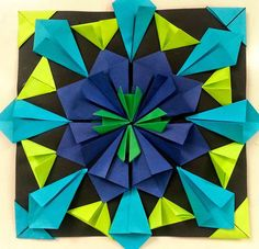 Amazing radial symmetry project with folded paper. Great lesson plan and links to video support! Doing this one really soon.