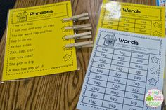 Short A Word Families real  and nonsense word fluency readers and word family fluency phrases