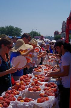 Parker County Peach Festival in Weatherford, Texas!