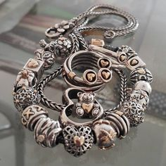 PANDORA Bracelet, Rings and Things with Little Gold Hearts