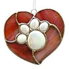 Awww...cute heart with paw print...