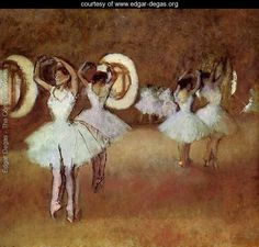 Dance Rehearsal in theStudio of the Opera - Edgar Degas - www.edgar-degas.org