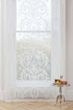 Premium Lace Panels: The Wreath Window Panels, Window Coverings, Window Treatments, Architectural Pattern, Lace Window, Classic Window, New Interior Design, Lace Curtains, Cotton Lace