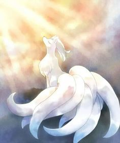 Weiss, the regal and majestic Alolan Ninetails who still doesn't really listen to me. She kinda lives in a world of her own most of the time. Pokemon Ninetales, Gif Pokemon, Pokemon Memes, Pokemon Fan Art, Pokemon Sun, Pet Anime, Anime Furry, Anime Animals, Mythical Creatures Art