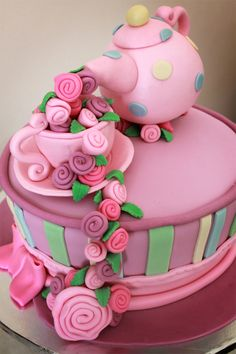 Mad Hatters Tea Party cake by Delana's Cakes