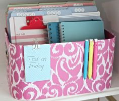 Back to school organization with The Creativity Exchange--small item storage | 11 Magnolia Lane