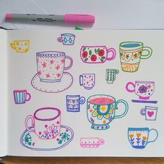 Sketchbook from this morning. New things are coming and this was my warm up ☕ Teacup, Warm, Mugs, Instagram Posts, Drawings, Tea Cup, Tumblers, Tea Cups, Mug
