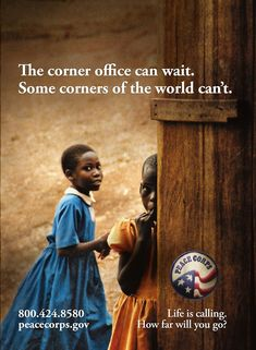 This ad is from 2006...  #Peace Corps  #Ads